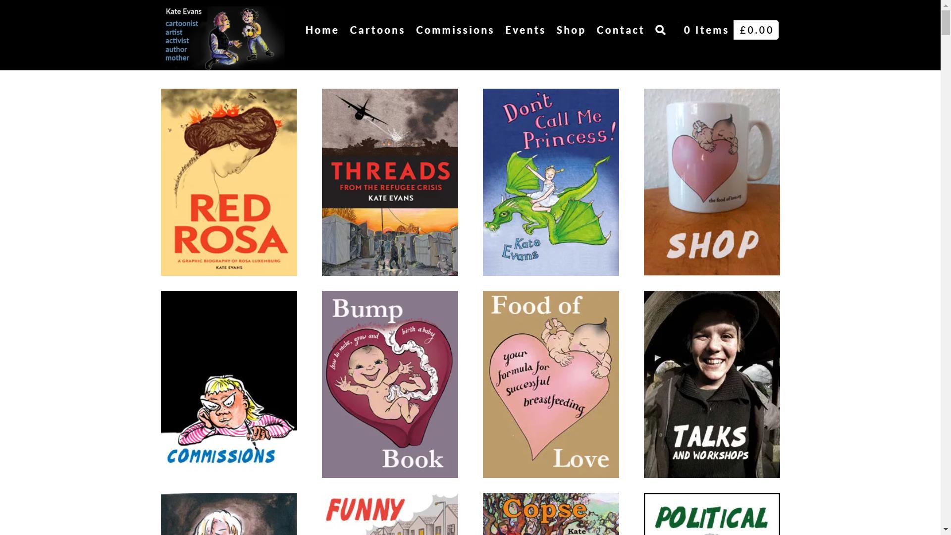 Cartoon Kate's website