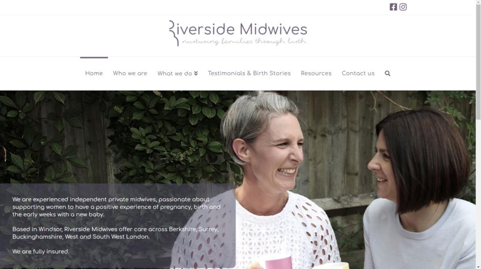 Riverside Midwives website