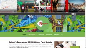Baggator website was designed with the community