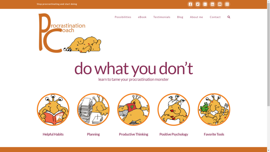 Procrastination Coach Website